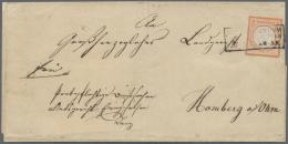 Deutsches Reich - Brustschild: 1872, Freimarke 2 Kr. Kleiner Schild Ziegelrot, Einzelfrankatur Auf Landzustellbezirk-Bri