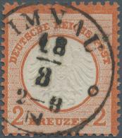 Deutsches Reich - Brustschild: 1872, 2 Kreuzer Rotorange Tadellos Gestempelt Und Sehr Gut Geprägt. Michel 400,- +