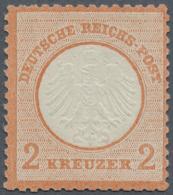 """Deutsches Reich - Brustschild: 1872. 2 Kr. Rötlichorange. FB Krug BPP (2005): """"Die Ungebrauchte Marke Ist Farbfrisc"""