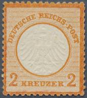 Deutsches Reich - Brustschild: 1872, Kleiner Schild 2 Kr. Rotorange, POSTFRISCHE Marke Ohne Falz Und Mit Vollem Original