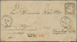 Deutsches Reich - Brustschild: 1872: 5 Gr Braun Kleines Brustschild Als Seltene Einzelfrankatur Auf Paketbegleitbrief (A