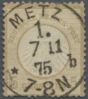 Deutsches Reich - Brustschild: 1872, Freimarke 5 Gr. Dunkelockerbraun Kleiner Schild, übliche Zähnung Mit Extr