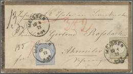 Deutsches Reich - Brustschild: 1872, Freimarken 2 Gr Ultramarin Und 5 Gr Ockerbraun, Je Kleiner Schild Auf WERTBRIEF Ab