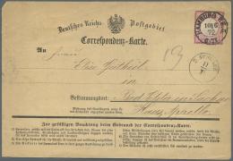 Deutsches Reich - Brustschild: 1872, 1 Gr Kl.Brustschild, EF Auf Seltenem Correspondenz-Karten Formular Der OPD Hamburg