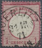 Deutsches Reich - Brustschild: 1871, 1 Gr. Mit Zentrisch Und Klar Platziertem K1 Görlitz 31.12.71. Farbfrisch, Gut