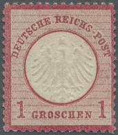 Deutsches Reich - Brustschild: 1872, 1 Gr. Kleiner Schild, Deutlich Geprägtes Und Farbfrisches Pracht-Exemplar Mit