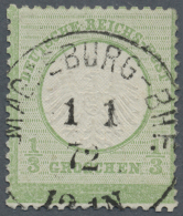 Deutsches Reich - Brustschild: 1872, 1/3 Gr. Kleiner Schild Im Großem Format L16 Mit Weißem Rand Unten, Entw