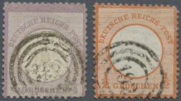 """Deutsches Reich - Brustschild: 1872, 1/4 Gr. Und 1/2 Gr. Kleiner Schild Je Mit Dänischem Duplex-Stempel """"(DPSK.P.EX"""