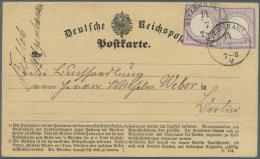 Deutsches Reich - Brustschild: 1872, 1/4 Gr. Kleiner Schild, Zwei Einzelwerte Als Portogerechte Mehrfachfrankatur Auf Po