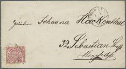 """Deutsches Reich - Brustschild: 1872, Einzelfrankatur NDP 1 Gr. Mit ERSTTAGSSTEMPEL DER BRUSTSCHILD MARKEN """"BERLIN P.E. 1"""