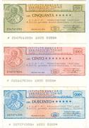 89 - N. 3 MINIASSEGNI ISTITUTO BANCARIO SAN PAOLO DI TORINO - Monete & Banconote