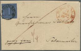 Thurn & Taxis - Ortsstempel: Hanau, 11. März 1852, 1 Sgr Der 1. Ausgabe (Michel Nr. 4) Auf Brief Von Hanau Nach