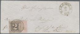 """Thurn & Taxis - Nummernstempel: 1856, 2 SGr., Brief Aus Meerholz """"40"""" Mit Besonders Klarem Abschlag Des Schwierigen"""