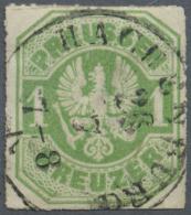 """Thurn & Taxis - Nachverwendete Stempel: """"HACHENBURG 26 7"""" Klarer Und Zentrischer Seltener Taxis-K1 Auf Preussen 1 Kr - Thurn And Taxis"""