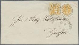 """Thurn & Taxis - Ganzsachen: 1865, 1/2 Sgr Auf 1/2 Sgr. Ganzsache Mit Expertise Alcuri """"außer Einem Verklebten"""