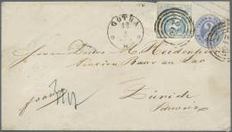 Thurn & Taxis - Ganzsachen: 1863, GA-Umschlag 2 Sgr. Blau, Format A (rückseitig Klappe Kl. Fehlstelle) Und Zusa