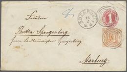 Thurn & Taxis - Ganzsachen: 1863 (?), 1 Sgr. Rosa Ganzsachenumschlag Mit Zusatzfrankatur ¼ Sgr. Rötlicho
