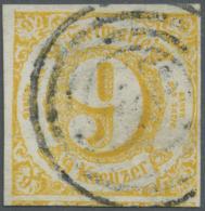 Thurn & Taxis - Marken Und Briefe: 1860, 9 Kreuzer Orangegelb Zentrisch Gestempelt Mit Breiten Rändern (1 Nachb