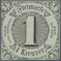 Thurn & Taxis - Marken Und Briefe: 1852 1 Kr. Schwarz Auf Graugrün, Postfrisches Vollrandiges Exemplar Mit Hers