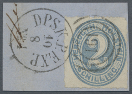"""Schleswig-Holstein - Dreiringstempel: """"191"""" - DPSK.P. EXP. No.4 10.8."""", Duplex-Stempel Klar Und Komplett Auf Briefst&uum"""