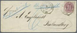 """Schleswig-Holstein - Marken Und Briefe: 1866, Herzogtum Holstein 1¼ S Lebhaftbräunlichlila Mit K2 """"NEUM&Uuml"""