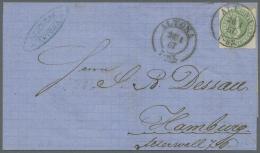 Schleswig-Holstein - Marken Und Briefe: 1865, ½ S Grünoliv (weisse Inschrift) Als Seltene Einzelfrankatur Mi