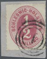"""Schleswig-Holstein - Marken Und Briefe: 1865, 1/2 S. Rosalila Mit Dänischen Dreiring-Stempel """"1"""" (Kopenhagen) Als N"""
