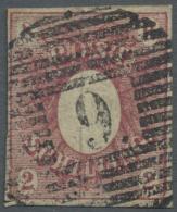 Schleswig-Holstein - Marken Und Briefe: 1850, 2 S Dunkelrosarot Mit Leichtem Aber Glasklarem Zentrischem Rostrundstempel