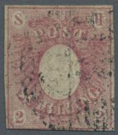 Schleswig-Holstein - Marken Und Briefe: 1850, 2 Sch. Rosa, Farbfrisches, Dreiseitig Vollrandig, Unten Berührtes Exe