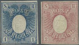 Schleswig-Holstein - Marken Und Briefe: 1850, 1 Und 2 Schilling Ungebraucht, Beide Marken Mehrfach Signiert. Michel 1.10