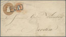 Oldenburg - Marken Und Briefe: 1862, 1/2 Gr. Orange Mit Durchstich A Als Wertstufengleiche Zufrankatur Auf Ganzsachen-Um
