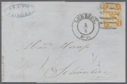 Lübeck - Marken Und Briefe: 1862,  1 Schilling Orangegelb, Herrlich Farbfrisch Und Breitrandig Auf Sensationellem E