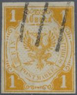 Lübeck - Marken Und Briefe: 1862:1 Schilling Schwärzlichgelborange, Farbfrisches, Vollrandiges Exemplar, Kl. R