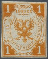 Lübeck - Marken Und Briefe: 1859, 1 Schilling Hellorange, Ungebraucht Mit Originalgummi, Gut Gerandet, Besonders Fr