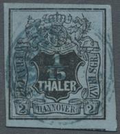 """Hannover - Stempel: """"BUNDE"""", PETSCHAFTSTEMPEL, Zentrisch In Blau A. 1/15 Th. Schwarz/lebhaftgrautürkis, Breit- &uum"""