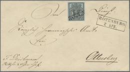"""Hannover - Vorausentwertungen: ROTENBBURG 1850: Faltumschlag Mit Breitrandiger 1 Ggr. Auf Blau Mit Vorausentwertung L1 """""""