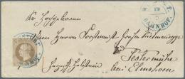 """Hannover - Marken Und Briefe: 1861, 3 Gr. Mittelbraun, Allseits Vollrandig Mit Blauem DKr. """"WUNSTORF BAHNHOF 19.9.(62)"""""""