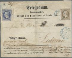 Hannover - Marken Und Briefe: 1864: Frankierter Telegrammumschlag Von Nienburg Nach Liebenau, Frankiert Mit KGV. 2 Gr. D