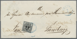 Hannover - Marken Und Briefe: 1856, Doppelt Verwendeter Brief Ab UELZEN Frankiert Mit 1/15 GGr. Mit Netzunterdruck, Drei
