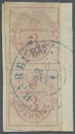 Hannover - Marken Und Briefe: 1853, 3 Pf. / 1/3 Sgr. Mattlilarosa Im Senkrechten Paar Auf Briefstück Mit Falz Befes