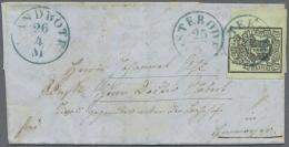 Hannover - Marken Und Briefe: 1851, Kleiner Brief Von OSTERODE Nach Hannover Frankiert Mit Breitrandigem Kabinettst&uuml