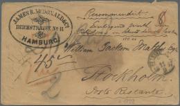 Hamburg - Dänisches Oberpostamt: 1857, Wertbrief Von Hamburg Nach Stockholm Mit Rs. DKr. HAMBURG KÖN. O.P.A. 9