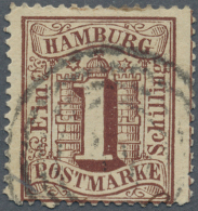 """Hamburg - Stempel: HAMBURG L """"300"""" Thurn&Taxis Nummernstempel Zentrisch Auf Gezähnter Hamburg 1 S Braun, Einwan"""