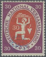 Deutsche Abstimmungsgebiete: Ost-Oberschlesien: 1920, 30 Pfg. Nationalversammlung Mit Blauem Handstempelaufdruck, Ungebr