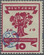 Deutsche Abstimmungsgebiete: Ost-Oberschlesien: 1920, 10 Pfg. Nationalversammlung Mit Blauem Handstempelaufdruck, Ungebr
