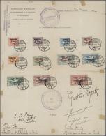 """Deutsche Abstimmungsgebiete: Oberschlesien: 1921, Volksabstimmung Kpl. Aufdrucksatz Gestempelt """"GLEIWITZ"""" Auf Offizielle"""