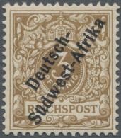 Deutsch-Südwestafrika: 1898, 3 Pfg. Hellocker, Farbfrisch Und Sehr Gut Gezähnt In Einwandfreier Postfrischer E
