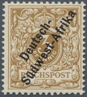 """Deutsch-Südwestafrika: 1898. 3 Pf Hellocker """"Deutsch- / Südwest-Afrika"""", Postfrisch. FA Jäschke-L. BPP (2"""