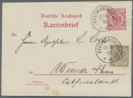 Deutsch-Südwestafrika - Vorläufer: Krone/Adler 3 Pfg., 4 Stück Auf Sauberem Kartenbrief Nach Deutschland