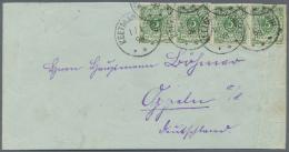 Deutsch-Südwestafrika - Vorläufer: Krone/Adler 5 Pfg., 2 Paare Auf Sauberem R-Brief Nach Deutschland Mit Ankun